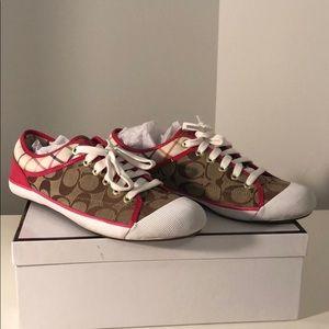 Coach KPI KHI//Pink Sneakers Women Size 9.5